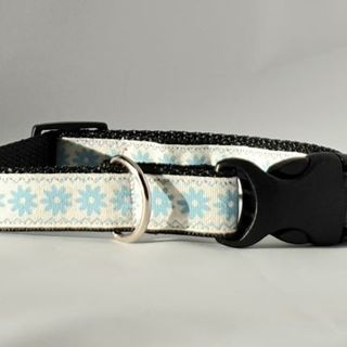 Blue Floral Collar 20mm 31-48 cm
