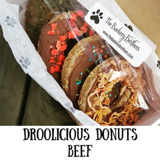 Droolicious Doggy Donuts 4 Pack Beef
