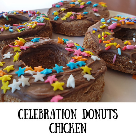 Barkday Celebration Donuts 4 pack CHICKEN